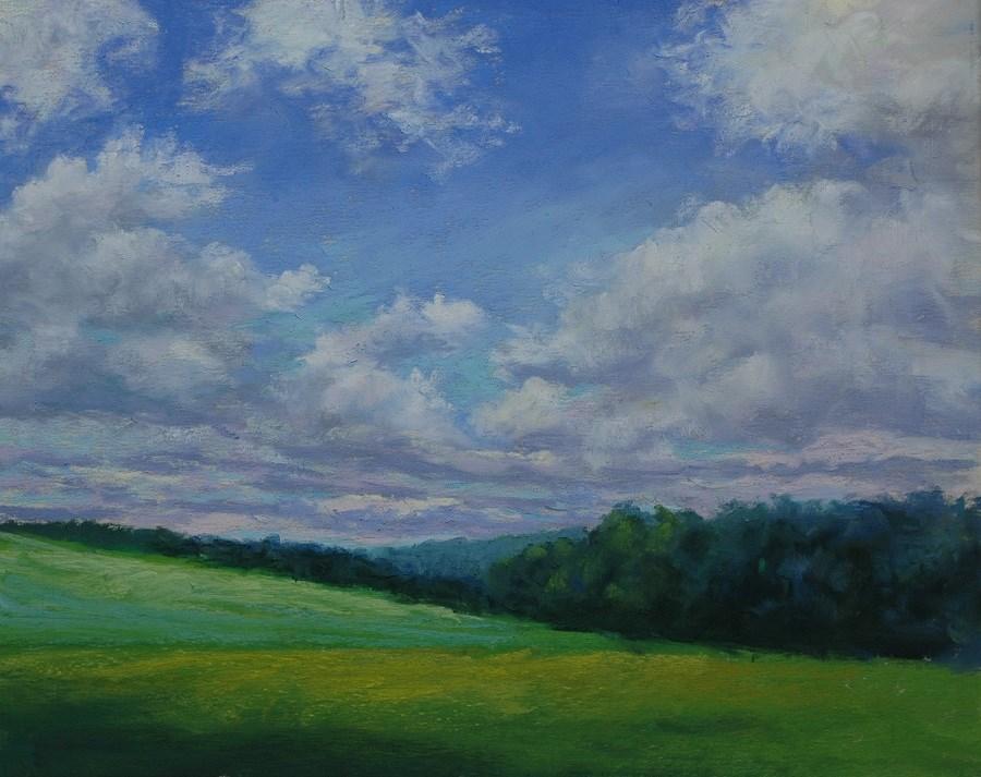 """""""Partly Sunny and Warm Today"""" original fine art by Susan Klabak"""