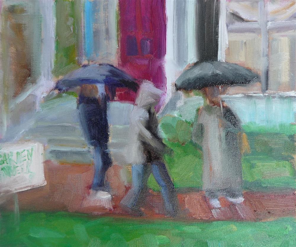 """a little garden day humor...."" original fine art by Carol Josefiak"