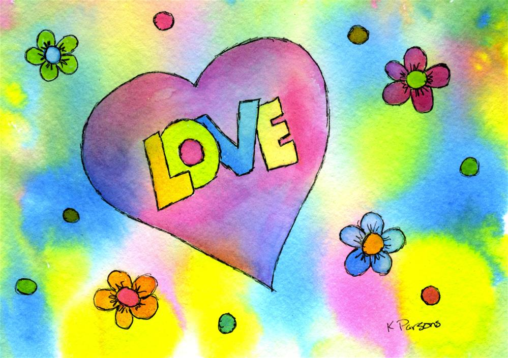 """Love"" original fine art by Kali Parsons"