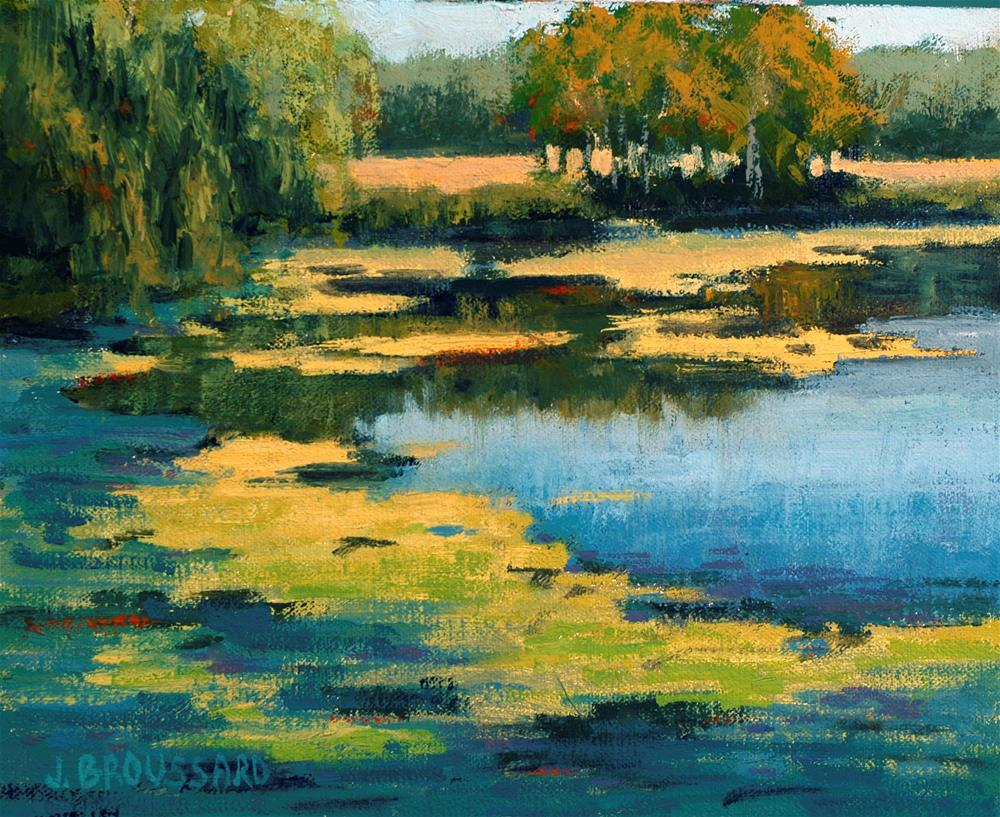 """Horseshoe Lake"" original fine art by Janet Broussard"