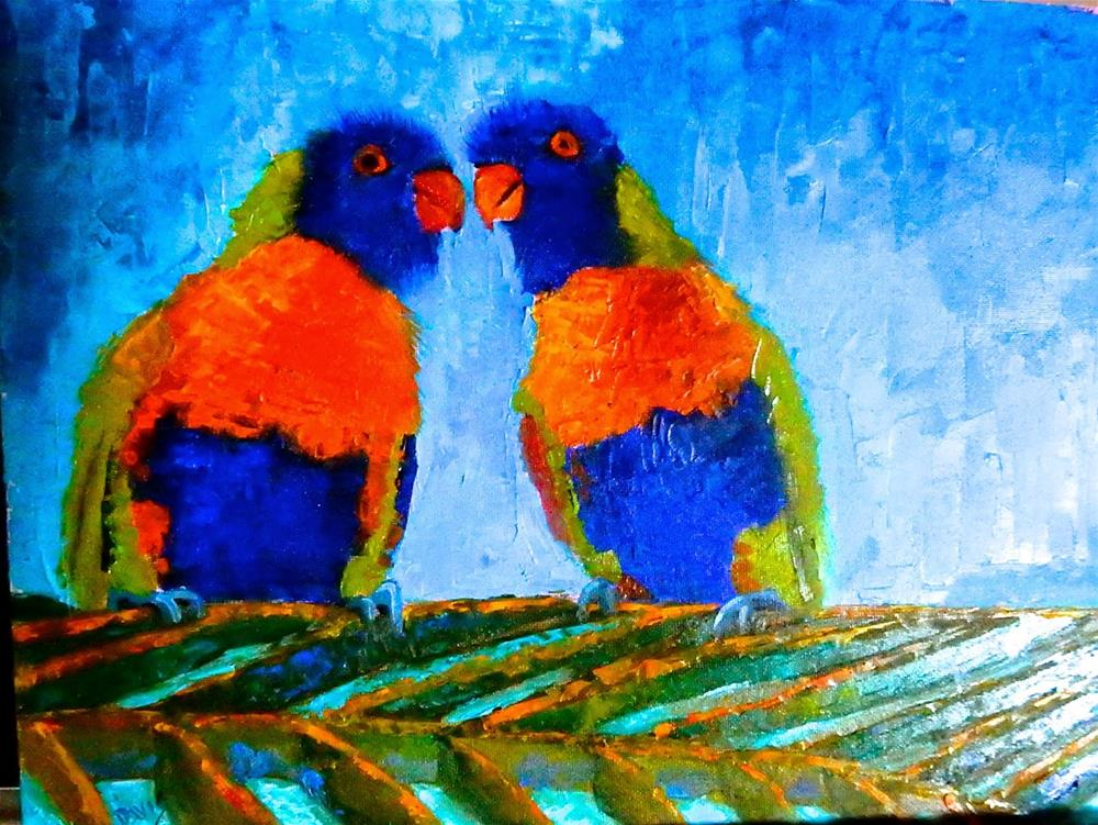 """I Only Have Eyes for You"" original fine art by Phyllis Davis"