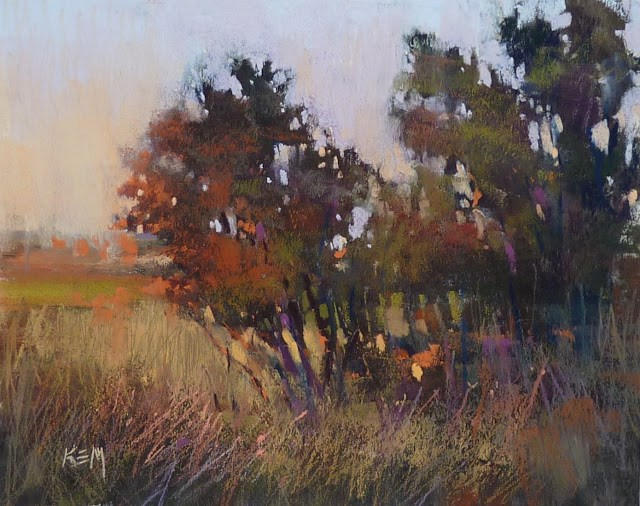 """Sunday Studio: Live Pastel Painting Demo Marsh Sunset"" original fine art by Karen Margulis"
