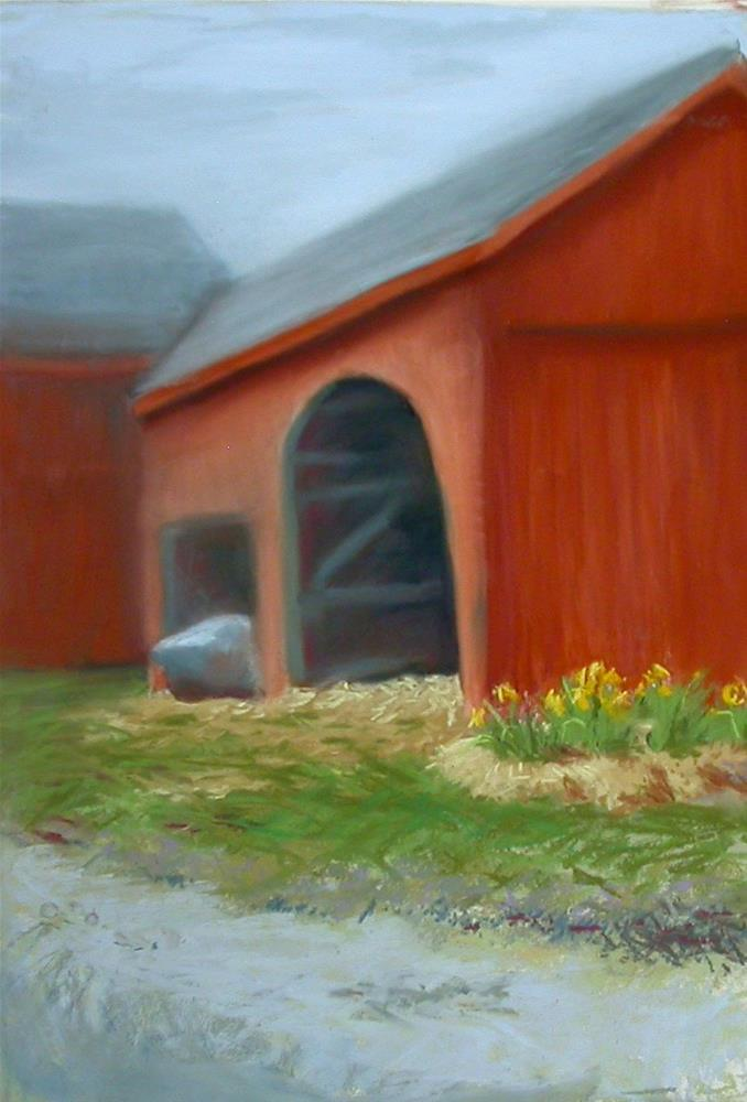 """Buffum Road Barn"" original fine art by Judy Albright"