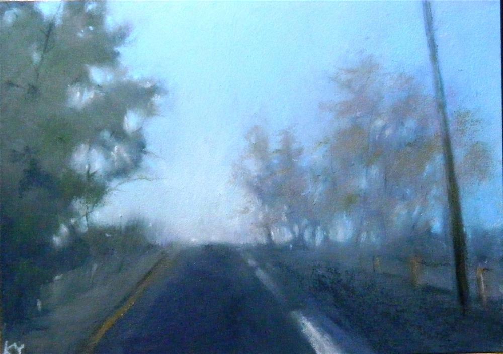 """Morning Fog"" original fine art by Celine K.  Yong"