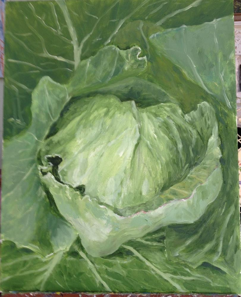 """Edible Green"" original fine art by Lucy Hammett"
