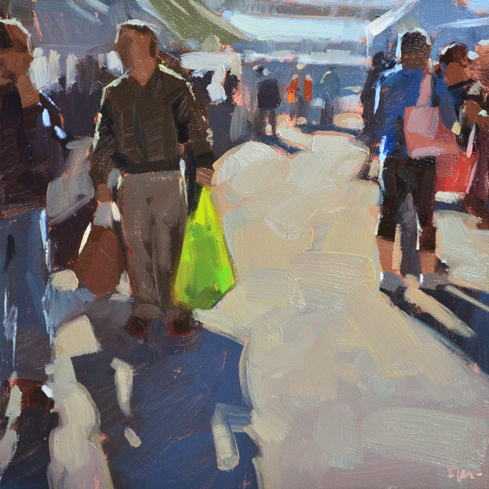 """Bring Your Own Bag"" original fine art by Carol Marine"