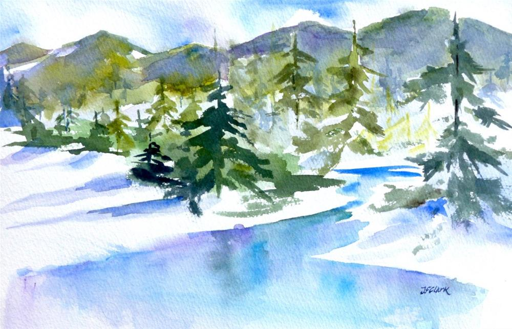 """Frozen"" original fine art by Judith Freeman Clark"