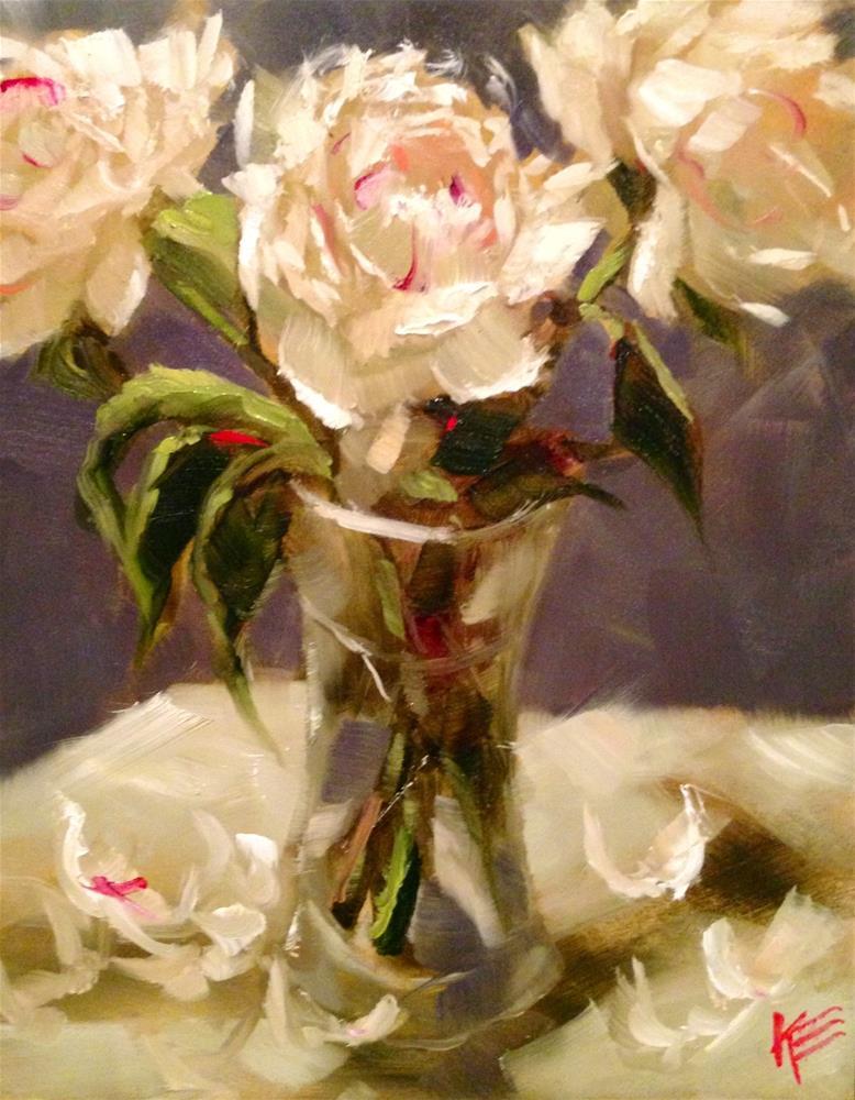"""Peonies"" original fine art by Krista Eaton"