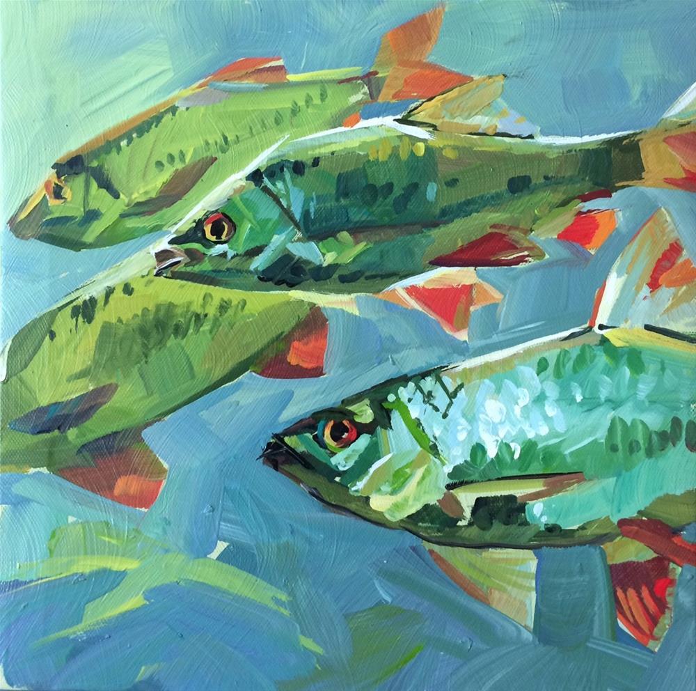 """""""Stick Together"""" original fine art by Teddi Parker"""