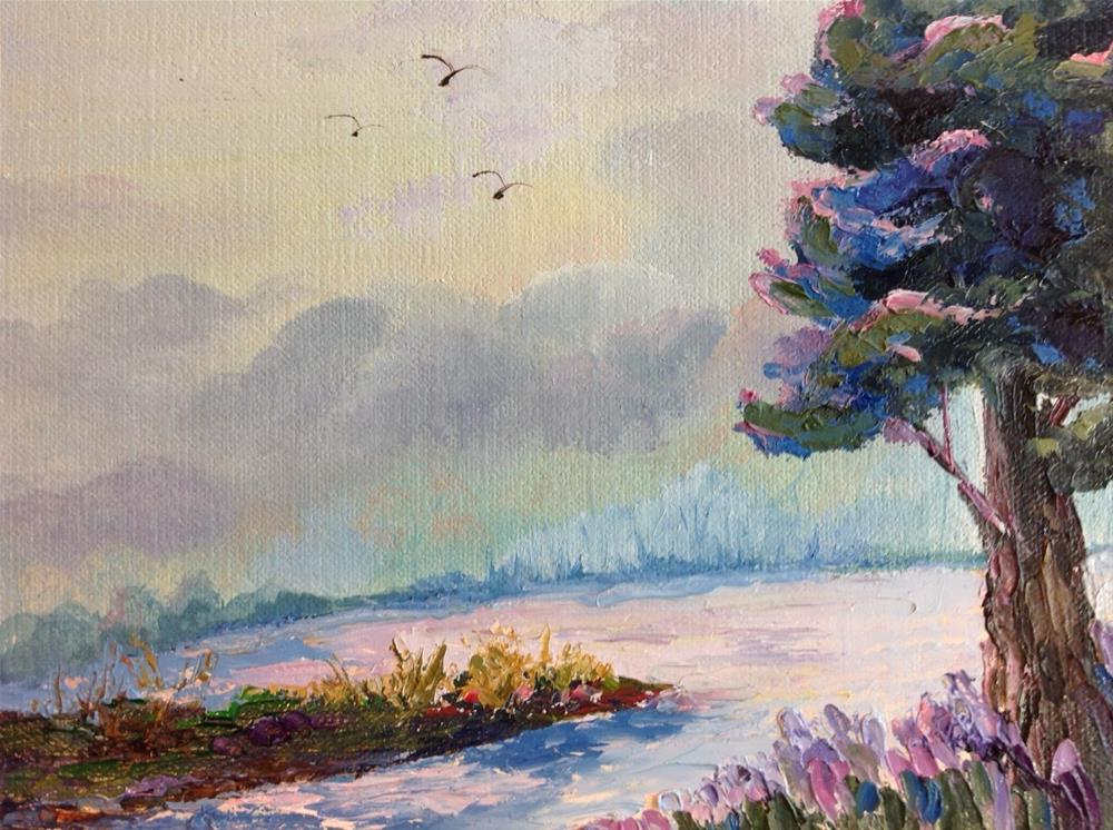 """Beautiful Pink Sunrise"" original fine art by Rose Brenner"