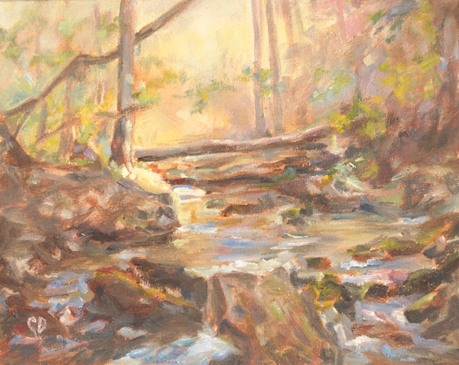"""Heavenly Stream"" original fine art by Carol DeMumbrum"