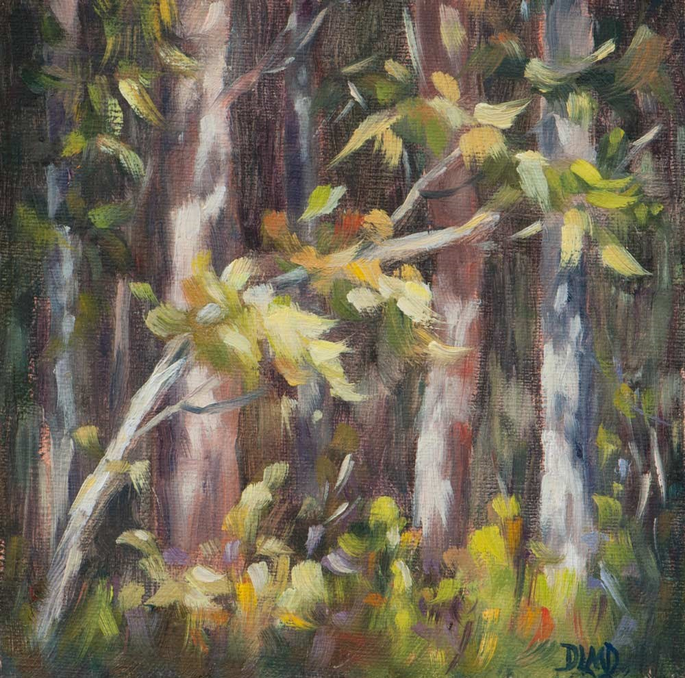 """Hints of Fall/ Daily Sketch"" original fine art by Debbie Lamey-Macdonald"