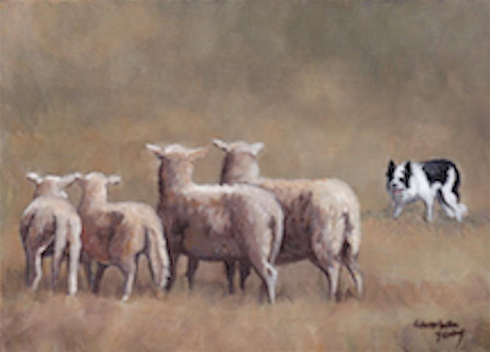 """Keeper of the Sheep"" original fine art by Charlotte Yealey"