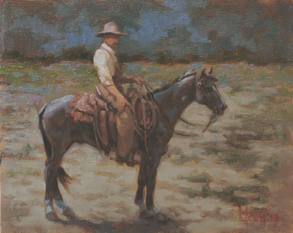 """Wrangler Memories #19"" original fine art by Cecile W. Morgan"