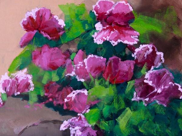 """Floral  Oil Painting, Fine Art,Flowers  Knock Outs by Colorado Landscape Artist Susan Fowler"" original fine art by Susan Fowler"