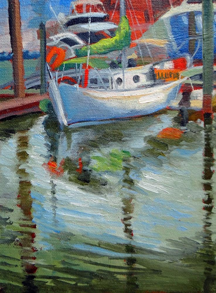 """White Sailboat"" original fine art by Nancy Paris Pruden"