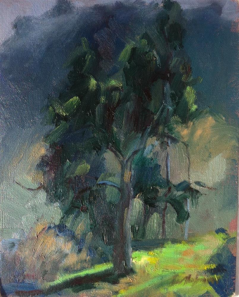 """Arroyo Seco Eucalyptus, Spring"" original fine art by Karla Bartholomew"