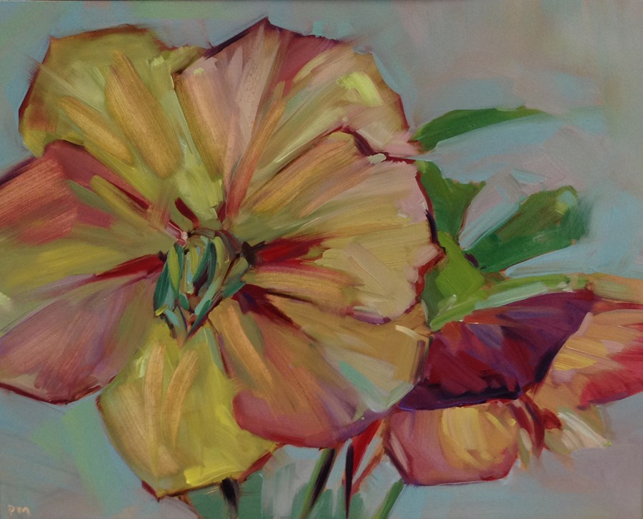 """H is for Hellebores"" original fine art by Patti McNutt"