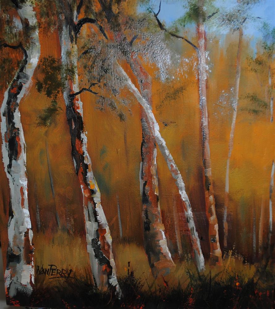 """Aspen Glow"" original fine art by Nan Perry"