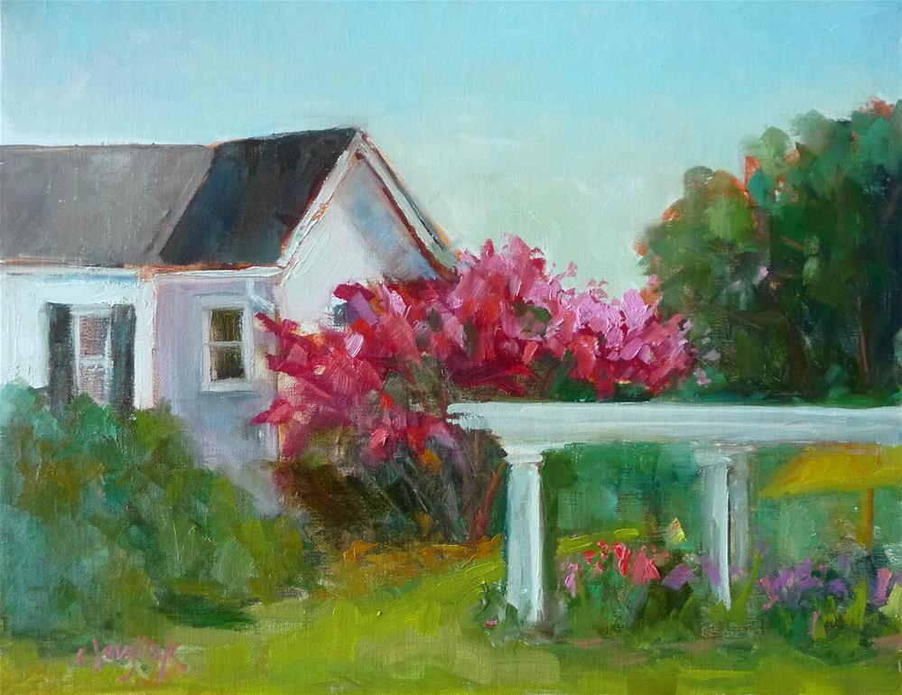 """""""Garden Paradise"""" original fine art by Carol Josefiak"""
