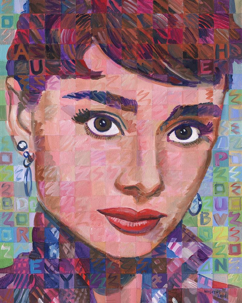 """Audrey Hepburn 2016.01"" original fine art by Randal Huiskens"