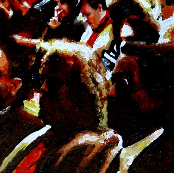 """Inside The Theater 2- People Enjoying A Performance In Theater"" original fine art by Gerard Boersma"