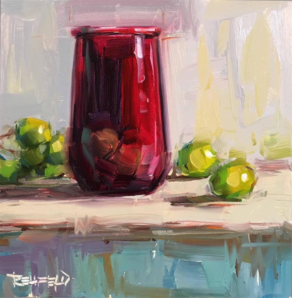 """Antique Red Glass"" original fine art by Cathleen Rehfeld"