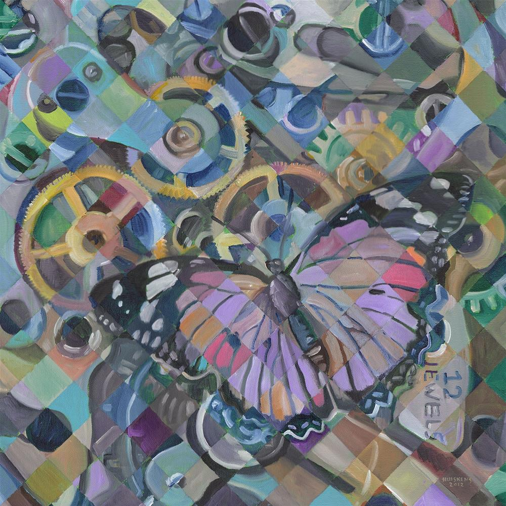 """Clockwork Butterfly No. 13"" original fine art by Randal Huiskens"