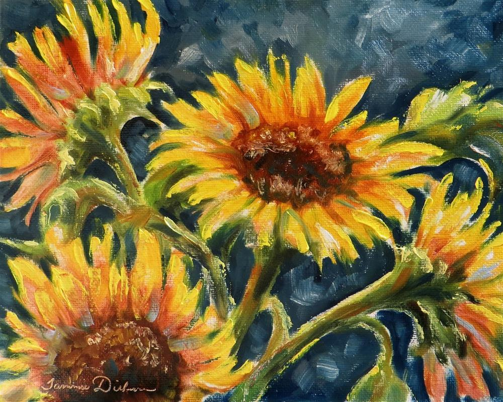 """Sunflower Sonata"" original fine art by Tammie Dickerson"