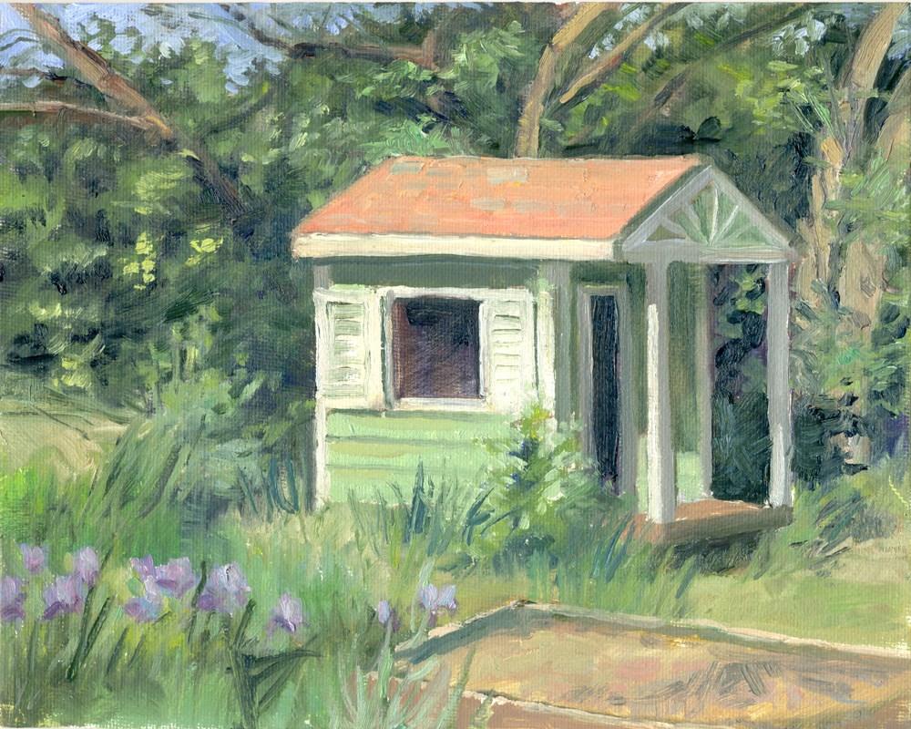 """Back Door View"" original fine art by Kath Reilly"