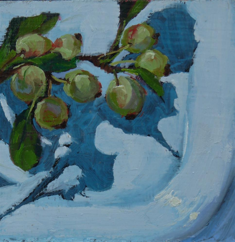 """Not Quite Ripe"" original fine art by Sharman Owings"