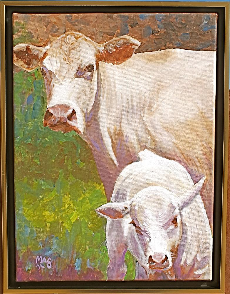 """Mom, I wanted to be a bull!"" original fine art by John F McGowan"