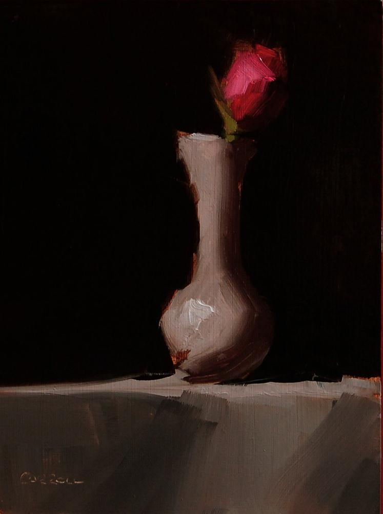 """Pink Roses"" original fine art by Neil Carroll"