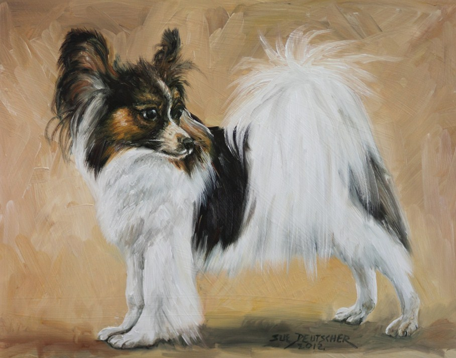 """Papillon"" original fine art by Sue Deutscher"