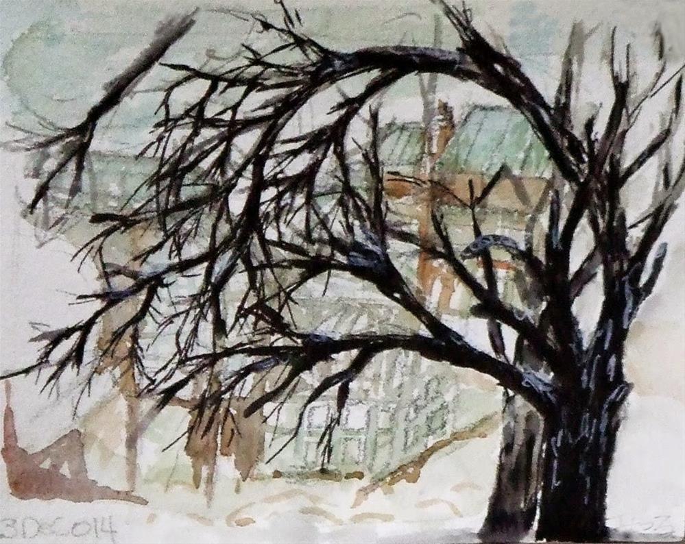 """""""23 Dec"""" original fine art by Mitsuru Cope"""