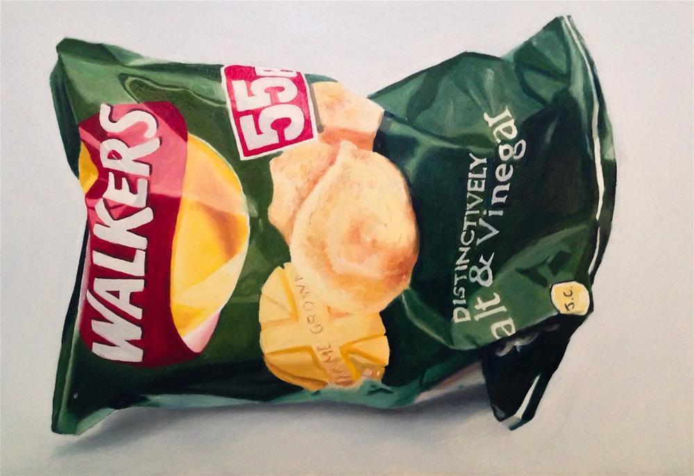 """""""Crisps (Potato Chips)"""" original fine art by James Coates"""