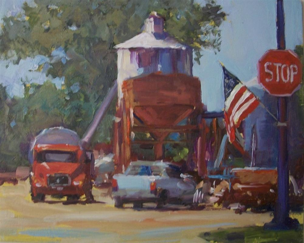 """America won't stop working"" original fine art by Doug Carter"