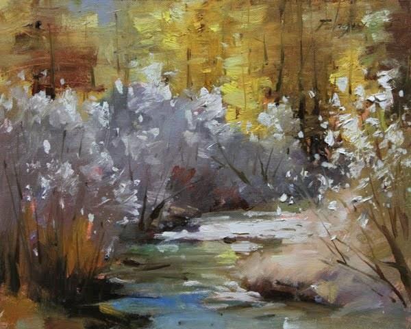 """Last Fall"" original fine art by Fongwei Liu"