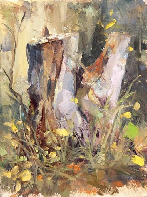 """The Remains of Autumn"" original fine art by Deb Kirkeeide"