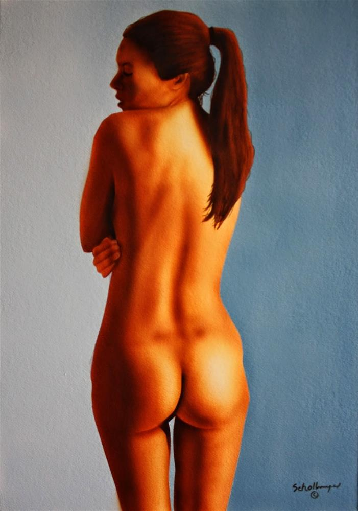 """Nude Study of Lexy"" original fine art by Fred Schollmeyer"