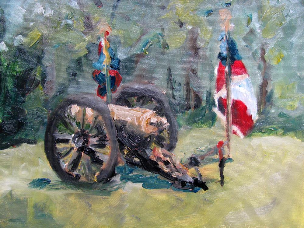 """Maury Light Artillery"" original fine art by Susan Elizabeth Jones"