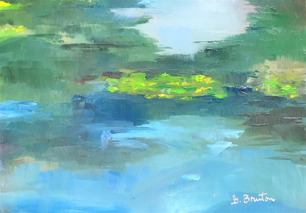 """Lily Pond En Plein Air"" original fine art by Gary Bruton"