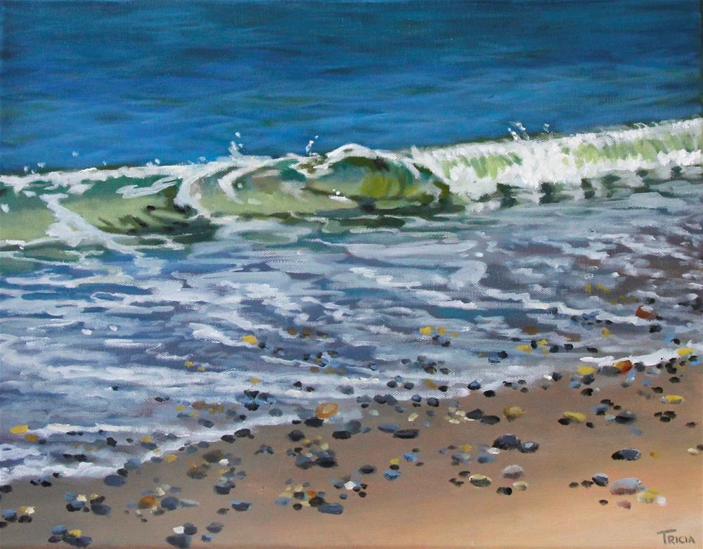 """Ocean's Edge"" original fine art by Tricia Granzier"