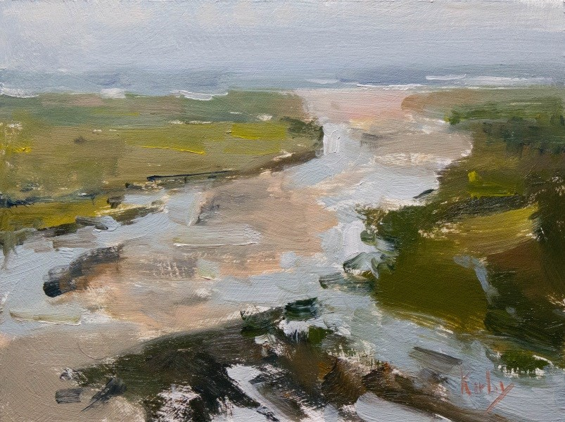 """Rain at San Luis"" original fine art by Randall Cogburn"