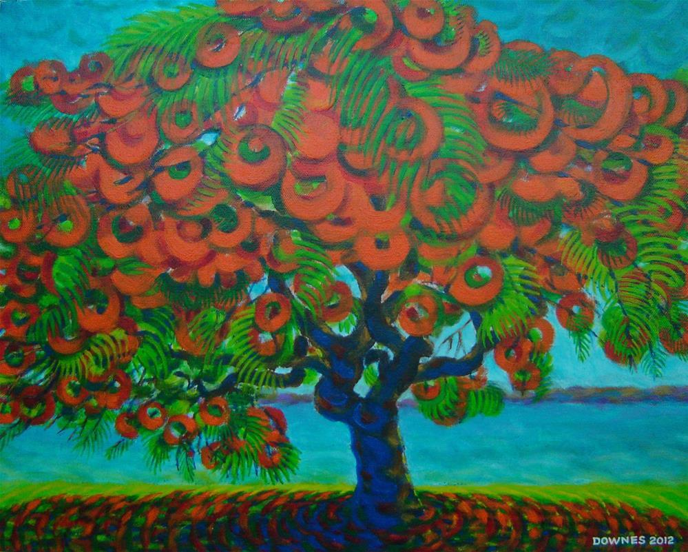 """267 POINCIANA TREE"" original fine art by Trevor Downes"