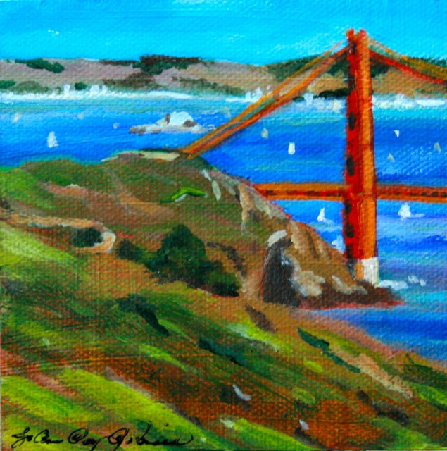 """Bridge Work"" original fine art by JoAnne Perez Robinson"