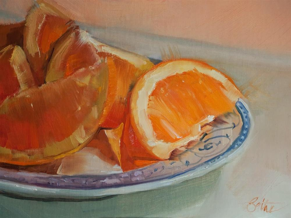 """Oranges For You by Beth Bathe"" original fine art by Beth Bathe"
