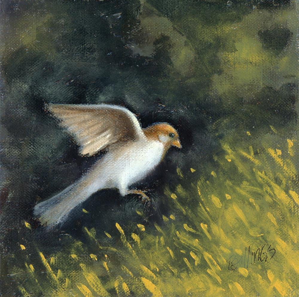 """A Grass Landing"" original fine art by Susanne Billings"