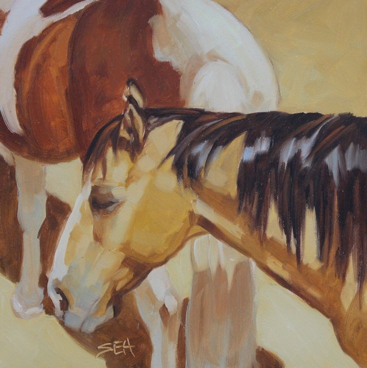 """''Buckskin''"" original fine art by Susan Ashmore"