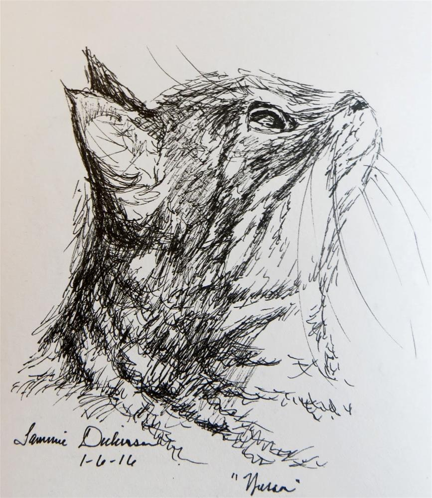 """Wesson in Ink"" original fine art by Tammie Dickerson"